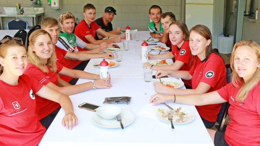 Swiss Mountain Bike Team Picture by JUSTIN BRIERTY Cairns Post