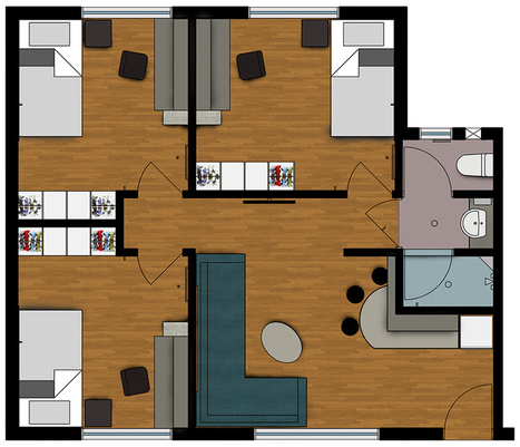 Cairns Student Lodge Apartment Layout