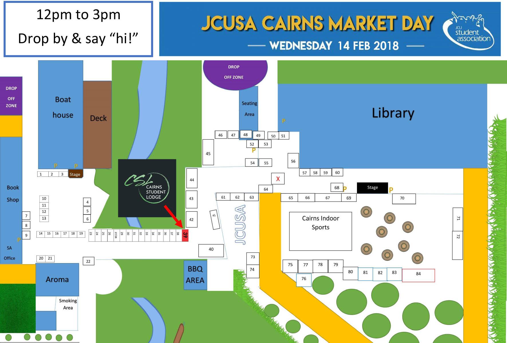 Map - Market Day 2018 JCUSA