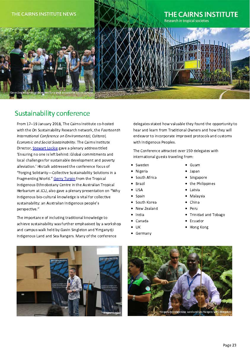 Sustainability Conference 2018 01 Jan 17 to 19